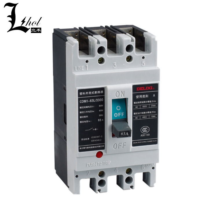 Delixi Moulded Case Circuit Breaker MCCB CDM1 from Chinese Manufacturer