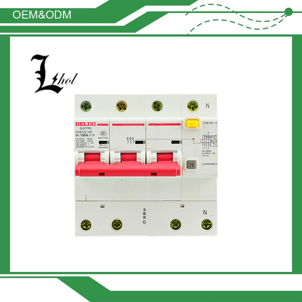 High Cost Performance Residual Current Circuit Breakers DELIXI DZ47LE-125 made in China