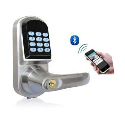 Bluetooth Door Lock, Zinc Alloy with Chrome Plating