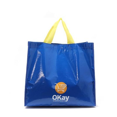 2016 SGS Standard Factory Price Reusable Laminated Tote PP Woven Shopping Bag