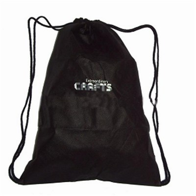 Waterproof Custom Made Logo Promotional Non Woven Drawstring Bag