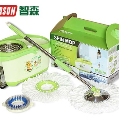 Green Foot Hand Pressure Spin Mop