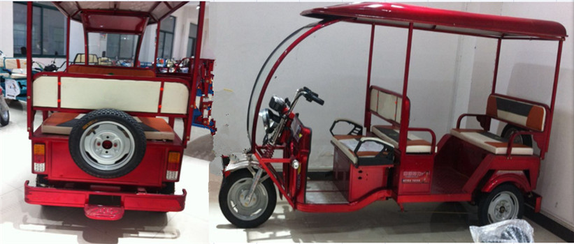 beautiful 3 Wheel electric passenger tricycle from China