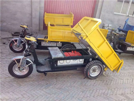 High performance battery operated electric tricycle for construction sites