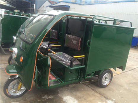 battery operated electric tricycle for express courier service