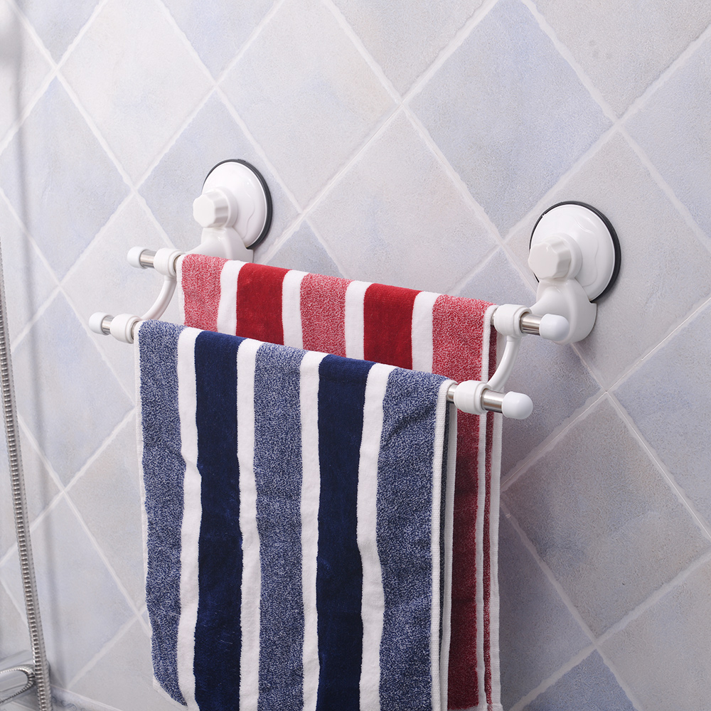 Bathroom Suction Cup Towel Rack Stainless Steel Towel Holder