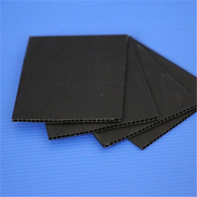 General 2-7 MM PP Polypropylene Straight Customized Color And Dimension Corrugated Plastic Sheets For The Partitions And Roofing And Billboards