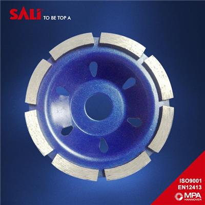 China supplier Single Row Diamond Grinding Cup Wheel for polishing stone