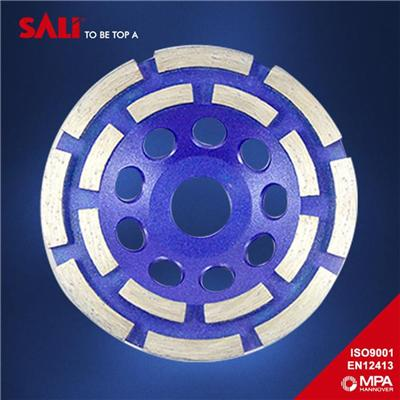 High performance Double Row Diamond Grinding Cup Wheel China supplier