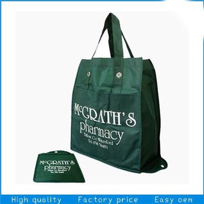 Nonwoven Foldable Eco Friendly Reusable Shopping Grocery Bag With Zippered Pouch