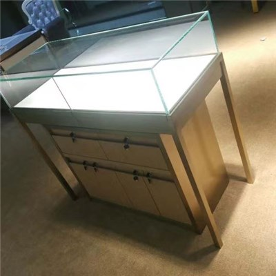 Solid Wood Jewelry Counter, Boutique Counter, Counter Lamp Manufacture, Jewelry Shop Construction, Jewelry Display Products, Stainless Steel Showcase, Glass Counter Production