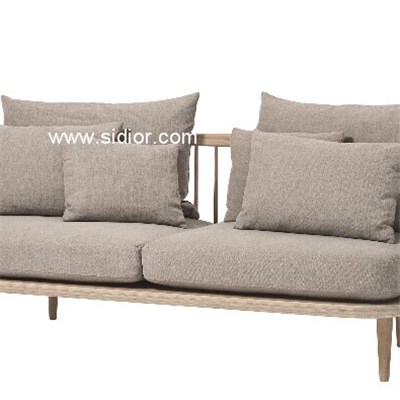Modern Living Room Lounge Solid Wood Couch Sofa