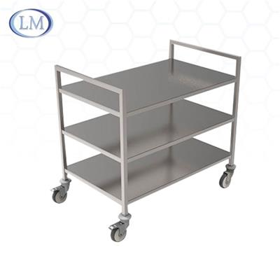 Multi-function Open Structure Stainless Steel Transport Trolley