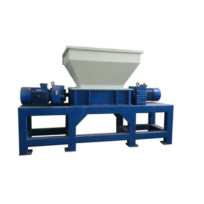 Industrial Shredder Double Shaft Automatic For Recycling Waste Metal Drum Aluminium Iron Edge Car Cable Wires