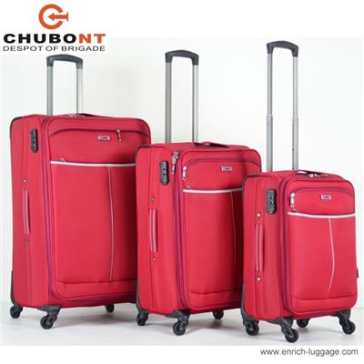 Polyester Travel Luggage Bags Built In Caster With Wheels In Small & Big Size
