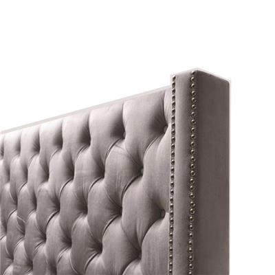 Wingback Headboards In Queen Twin Size Upholstered With Button Tufted Fabric For Five Star Hotel