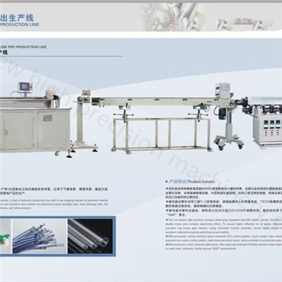 High Precision Medical PVC PU IV Infusion Tube Extruder Machine Line