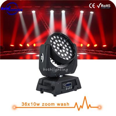 Led Wash 36x10w RGBW 4in1 Moving Head Led With Zoom