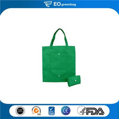 Nonwoven Shopping Bag With Pocket Foldable