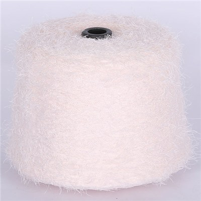 Multicolor Soft Polyester Nylon Feather Yarn For Kintting