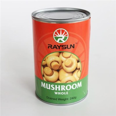 Canned Fresh White Whole Button Mushroom In Brine