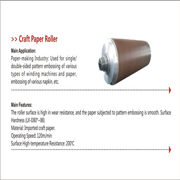 Craft paper roller for single-sided/double-sided pattern embossing