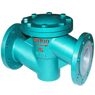 H41 Rubber / PTFE / FEP / PFA Lined Check Valve