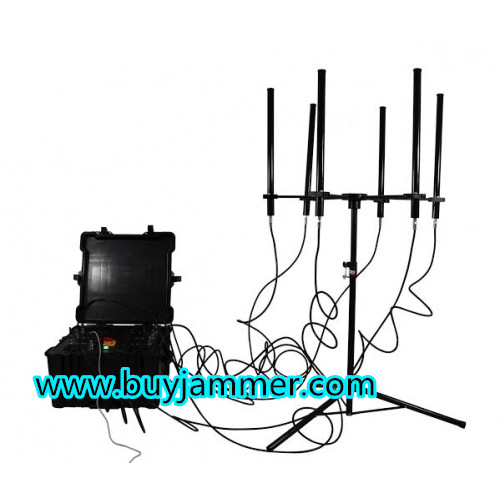 350W 4-8bands High Power  up to 2000m Drone Jammer