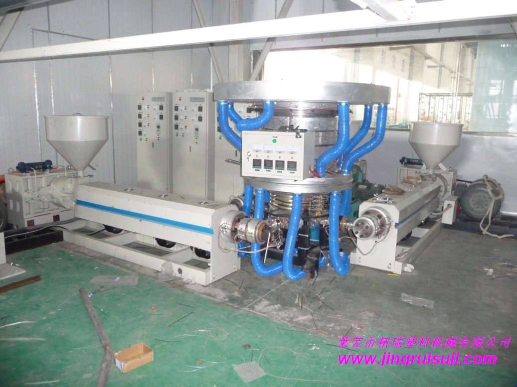POF three layer co extrusion heat shrinkable film production line for sale