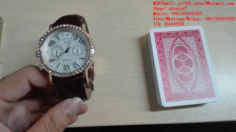 XF New Style Automatically Watch Camera To Work With Poker Analyzers For Scanning Invisible Bar-Codes Playing Cards / uv contact lenses / electronic dices / cheating device in poker / Texas hold'em a