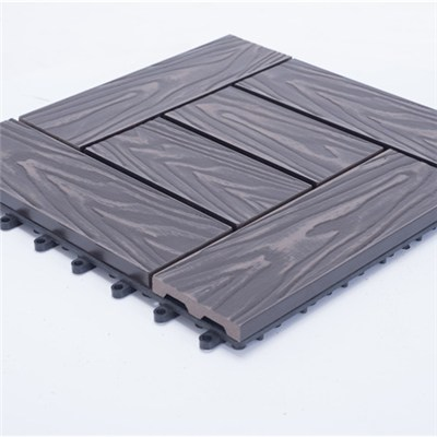 Diy Easy Fixed Wooden Decking Tiles For Balcony
