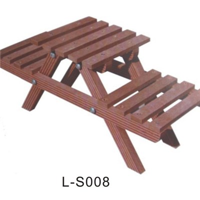 WPC Garden Picnic Table And Chair Set For 2 People
