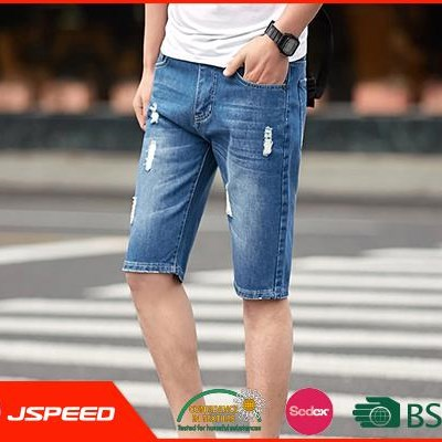 Summer Fashionable OEM shorts knitted New man jeans Fashion Brand denim