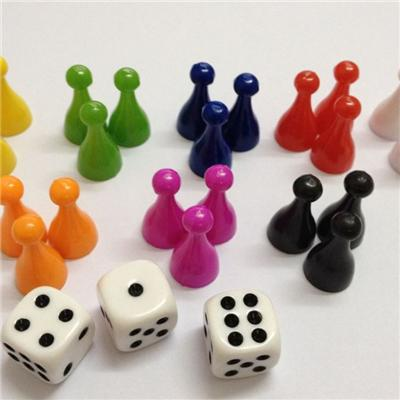 Plastic Board Game Pieces Pawns and Tokens