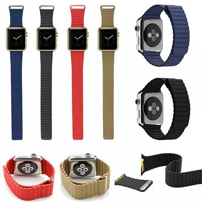 Apple Watch Leather Loop Straps Wristbands, 38mm/42mm Leather Loop Bands For Apple Watch Band