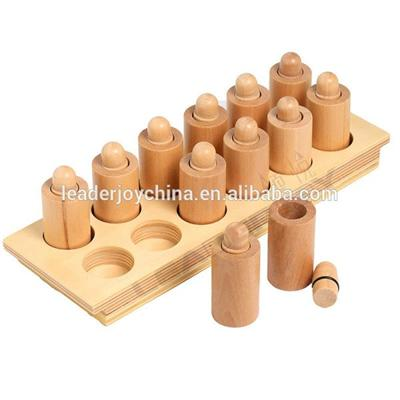 Leader Joy Beech Wood Montessori Material Kids Educational Toys Smelling Cylinders