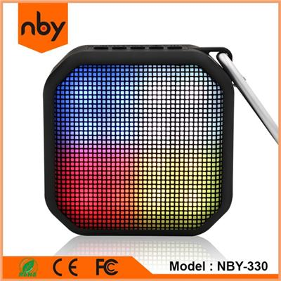 NBY-330 Outdoor Cube Waterproof Bluetooth Speaker with LED light