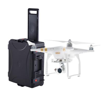 High Protection Portable Watertight Case With Wheels For DJI PHANTOM With High-density Foam Customized