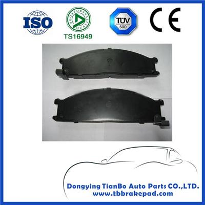 Nissan Frontier Low Noise Semi Metallic Painted Plastic Rear Brake Pad