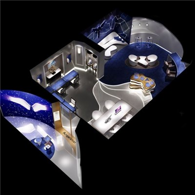 Diamond Custom Shop Design, Projection Lamp, Creative Geometry Modeling, Element Design, Virtual Video Display, 3D Painting, Three-dimensional Space Display, High-end Custom Jewelry System, Terminal I