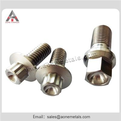 Pure Titanium Nuts and Screws with Bright Surface According to Customers Drawing