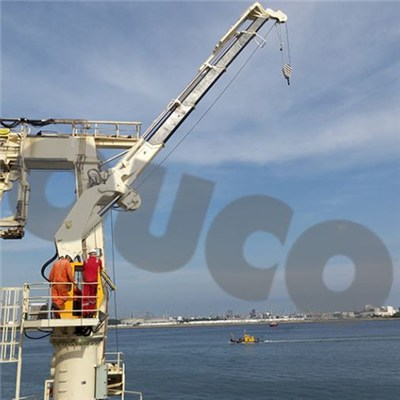 2.5t Folding Knuckle Boom Telescopic Hydraulic Crane