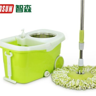 With Big Wheels Spin Mop
