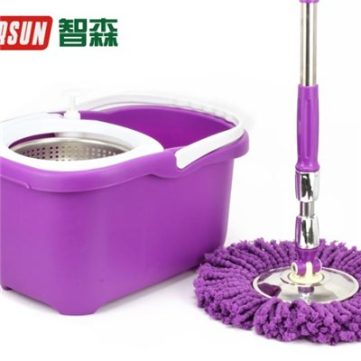 Purple Hand Press Spin Mop