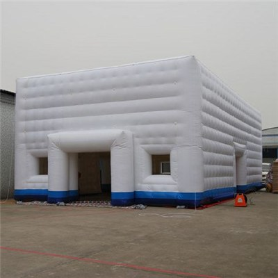 Hot Sell Giant Square Ice Structure Led Inflatable Air Cube Tent