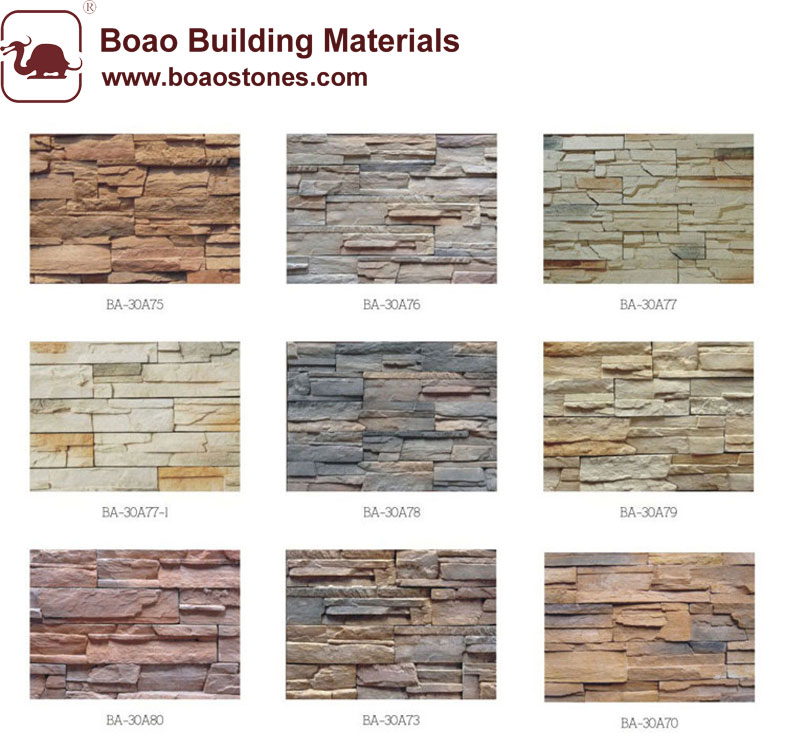 Decorative artificial faux cultured stone veneer panel wall