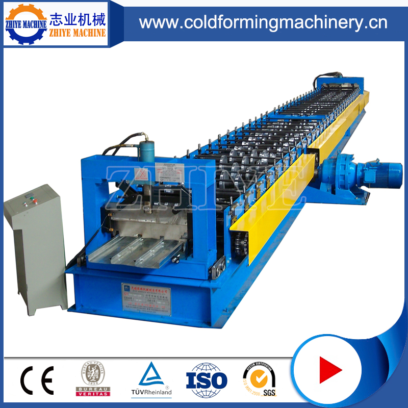 Plc Controlling Color Coated Steel Steel Deck Forming Machine