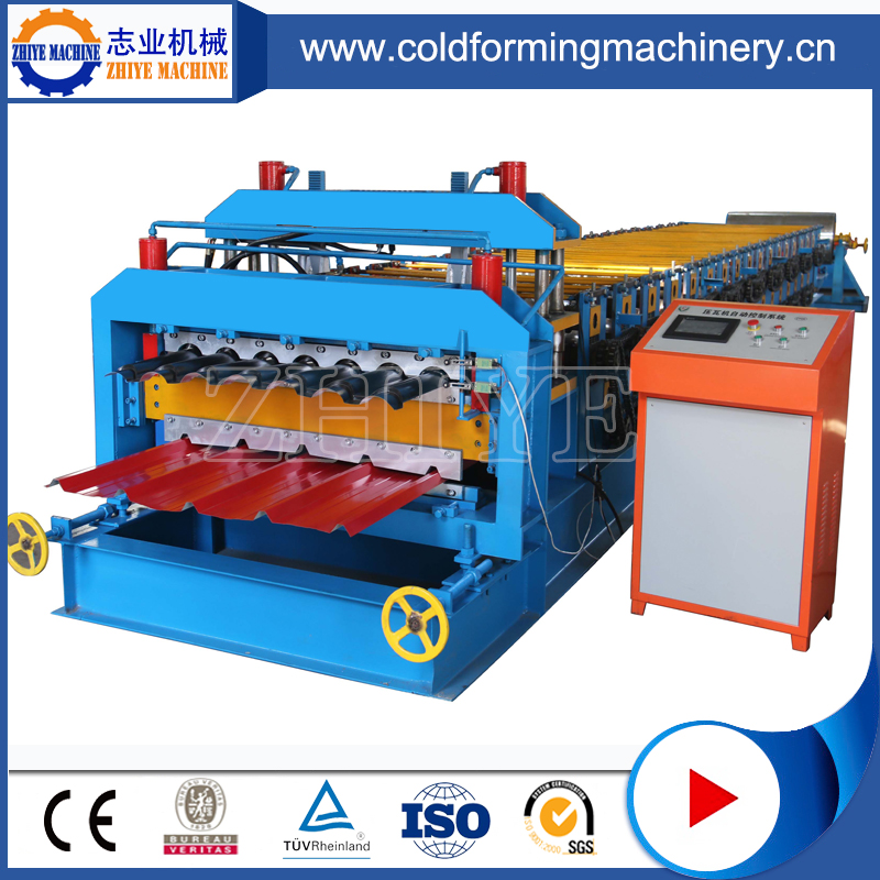 Auto Double Layer Steel Metal Roofing Sheet Roll Forming Line