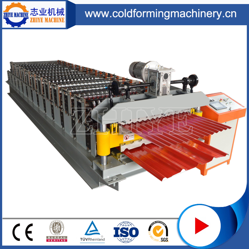 Double Layer Steel Roof Sheets Cold Forming Machine