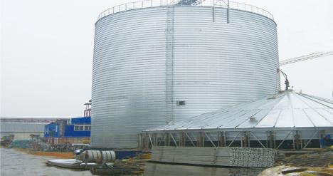 Spiral Steel Silo for Storing granular / powdery grains /granular or powdery minerals / liquid